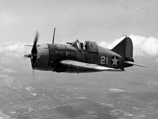 Brewster F2A-3 'Buffalo' fighter.