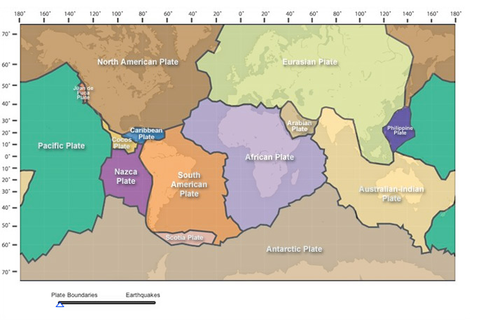 activity world map of plate boundaries gallery