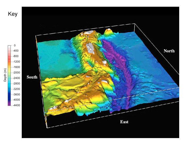 NOAA Ocean Explorer: Education - Multimedia Discovery ... on caspian sea topography map, ocean floor map, bathymetry map, timor sea australia on map, ocean topography map,