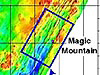 Pencil-beam bathymetry of Magic Mountain area.