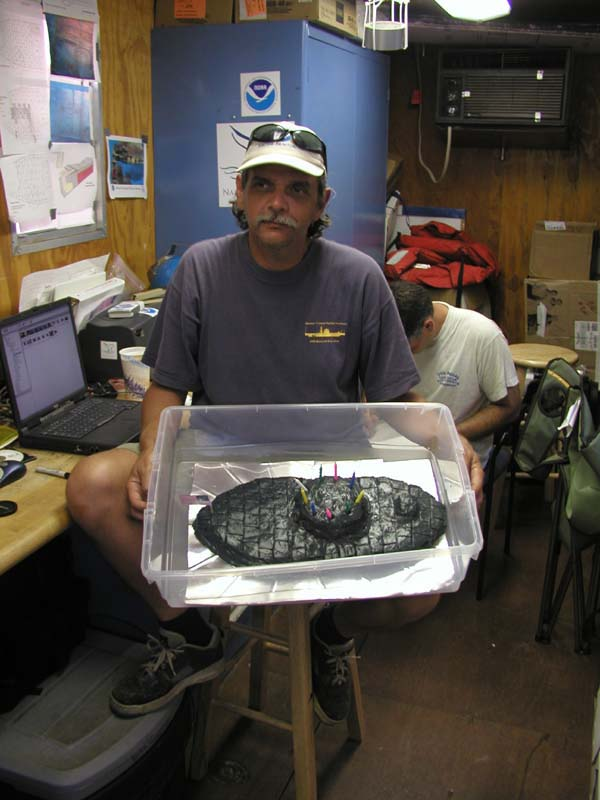 Noaa Ocean Explorer Monitor Expedition 2002 Jeff And Birthday Cake