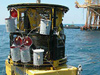 The ROV Innovator during a morning launch