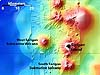 Submarine volcano map