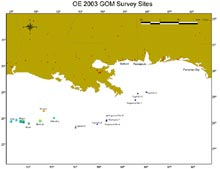 Outer continental shelf banks in the northwestern Gulf of Mexico