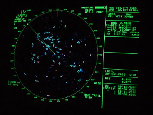 Radar imaging of a group of ships