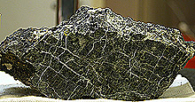 Hand sample of a serpentinite from Lost City