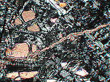 Photomicrograph of a serpentinite