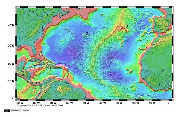 Ocean Floor Elevation : Noaa ocean explorer north atlantic