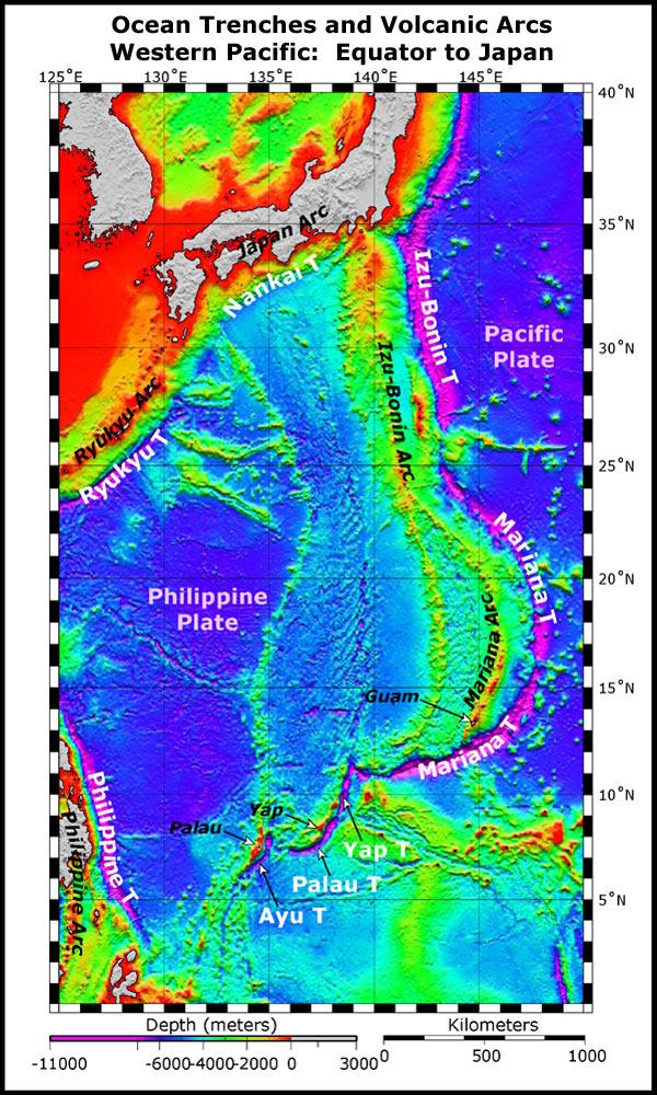 NOAA Ocean Explorer Submarine Ring Of Fire - Japan map equator