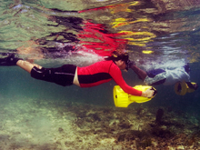 In areas where it is not practical to tow snorkelers and when there are large areas to be covered, the DPV is an extremely useful tool.