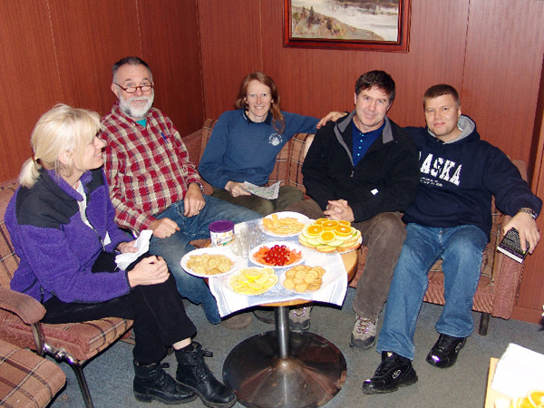 Rusalca managers and chief scientists onboard the r v lavrentiev 2008