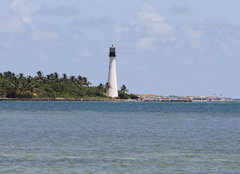 The Cape Florida Lighthouse is the oldest standing structure in Miami-Dade County.