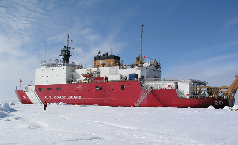 The USCGC Healy was commissioned in 2000 to conduct research in ice-covered waters of the Arctic.