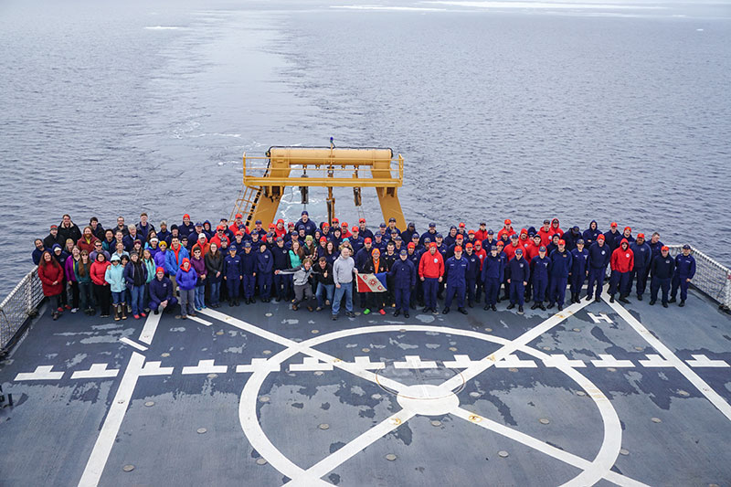 A group of 141 scientists and Coast Guard crew completed a successful expedition to the Chukchi Borderlands.