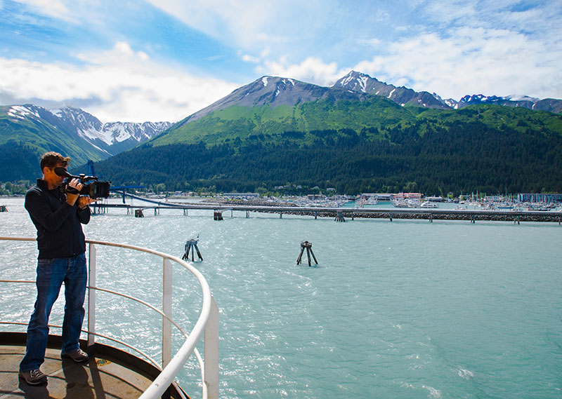 Stuart Ireland, cinematographer with Ocean Geographic, documents our departure from Seward, Alaska.