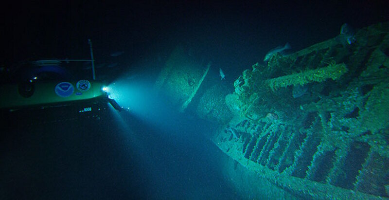 During the very first dive of the expedition, scientists located and explored the German U-576.