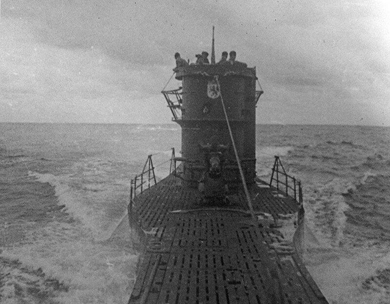 WW2 German U-Boat Submarine at Sea Picture