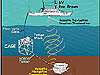 Schematic image of ROV deployment and support equipment