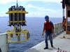 deployment testing of instrument to measure ocean currents and temperature