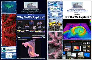 Okeanos Explorer Education Materials Collection was developed to encourage educators and students to become personally involved with the voyages and discoveries of the vessel.
