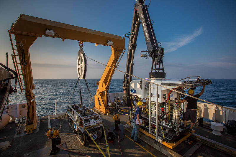 The expedition marks the second season using NOAA's ROV and camera sled on NOAA Ship Okeanos Explorer.