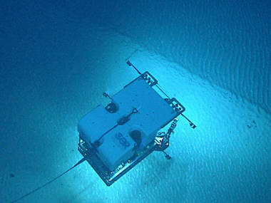 ROV Deep Discoverer imaging a series of rippled bedforms.
