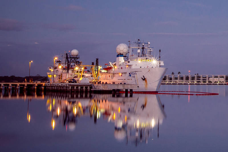 NOAA Ship Okeanos Explorer returned to port at Ford Island, Pearl Harbor, this evening, bringing Leg 2 of the Hohonu Moana: Exploring Deep Waters off Hawaiʻi Expedition to a close. The next leg of the expedition starts August 28, 2015.