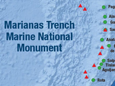 Management designations within the Marianas Trench Marine National Monument.