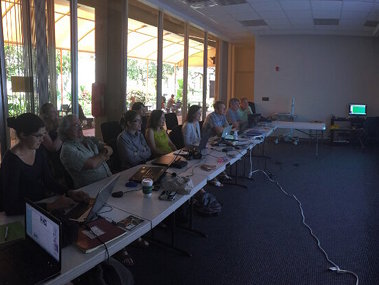 Shore-based scientists participating from the University of Hawaii Exploration Command Center.