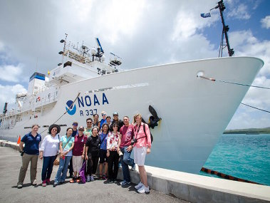 Ship tours were conducted in Guam before the start of Leg 1, and in Saipan after Leg 1 was completed, to share the expedition with educators, students, media, VIPs and the general public.