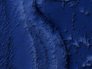 The Mariana Trench, satellite view from Google Maps.