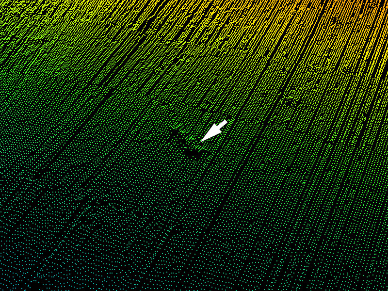 Raw multibeam point data of suspected wreck of Japanese destroyer Hayate. Further investigation with ROV Deep Discoverer confirmed it is Japanese cargo ship, Amakasu Maru No.1.