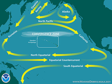 The North Pacific Gyre, located in the northern Pacific Ocean, is one of five major oceanic gyres and covers most of the northern Pacific Ocean.