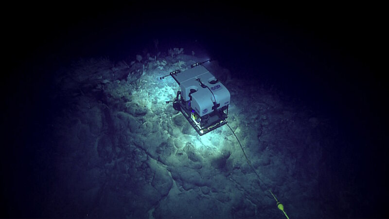 "ROV Seirios acts as a brilliant source of light in the ""night sky"" of the ocean."