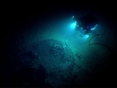 "During the seventh dive of the Gulf of Mexico 2017 expedition, Deep Discoverer explored an unknown shipwreck identified by the Bureau of Ocean Energy Management simply as ""ID Number 15377."""