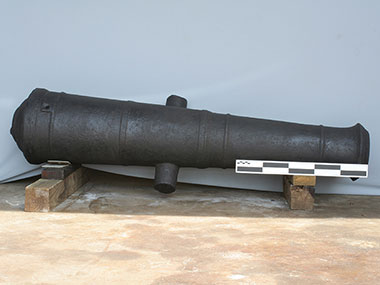 Cannon recovered by archaeologists from an early 19th century shipwreck in 4,000 feet of water in the Gulf of Mexico.