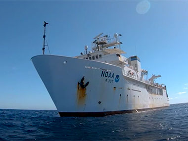 Join ENS Brianna Pacheco, a junior NOAA Corps officer, and Dan Rogers, an ROV engineer with the Global Foundation for Ocean Exploration, for a tour of NOAA Ship <em>Okeanos Explorer</em>.