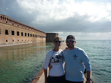 LT Abbitt and her boyfriend, Captain Patrick Vandenabeele, at Fort Jefferson at the Dry Tortugas National Park.
