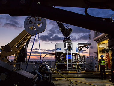 The remotely operated vehicle <em>Deep Discoverer</em> (D2) will be used to image unexplored areas of the Blake Plateau, Blake Ridge, Blake Escarpment, submarine canyons offshore of North Carolina, submerged cultural heritage sites, areas predicted to be suitable habitat for deep-sea corals and sponges, inter-canyon areas, and gas seeps.