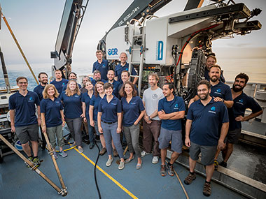 The mission team for the Windows to the Deep 2018 expedition.