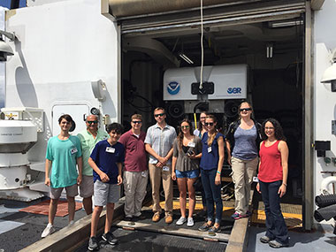 Members of the South Atlantic Fisheries Management Council and their families toured NOAA Ship Okeanos Explorer during World Oceans Day on Friday, June 8.