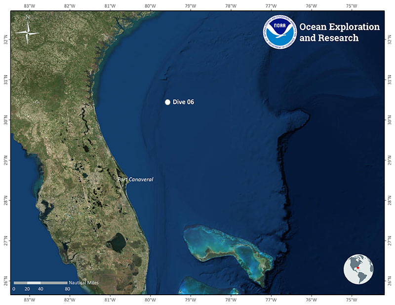 Location of Dive 06 on June 27, 2019.