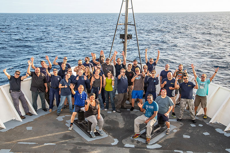 It takes a team of people from every department on board NOAA Ship Okeanos Explorer to help make each on of these 100 expeditions a success.